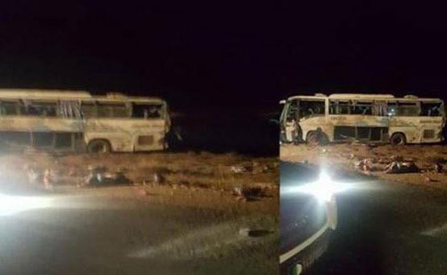 10 قتلى و 12 مصابا في حادث انقلاب حافلة بين ولايتي بسكرة والمسيلة