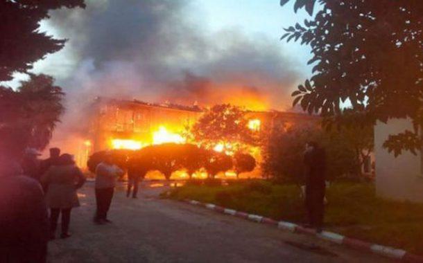 نشوب حريق مهول بالإقامة الجامعية