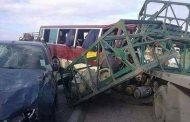 إرهاب الطريق يخلف 8 قتلى و 24 مصابا على إثر إصطدام شاحنة لنقل قارورات غاز البوتان و حافلة بتيارات