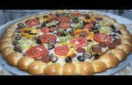 تحضير بيتزا بشكل جديد