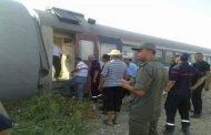 إصابة 23 مسافر بجروح مختلفة في حادث قطار بتونس