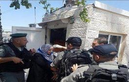 إعتقال سيدة فلسطينية طعنت حارس أمن
