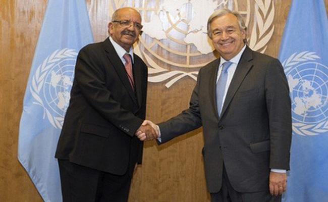 عبد القادر مساهل يجري محادثات مع الأمين العام الأممي  أنتونيو غوتيريس بنيويورك