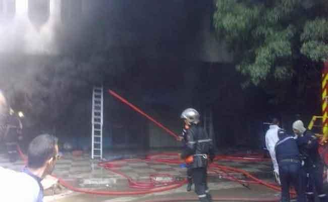 إخماد حريق بمطحنة خاصة بقرية