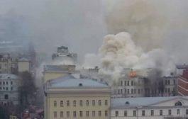 حريق بوكالة المخابرات الخارجية الروسية