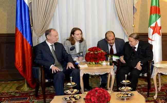 استقبال رئيس الجمهورية لكاتب مجلس الأمن الروسي