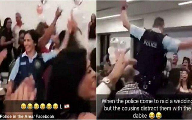 جاءت الشرطة لتوقف حفل زفاف فوجدت نفسها ترقص مع المدعوين