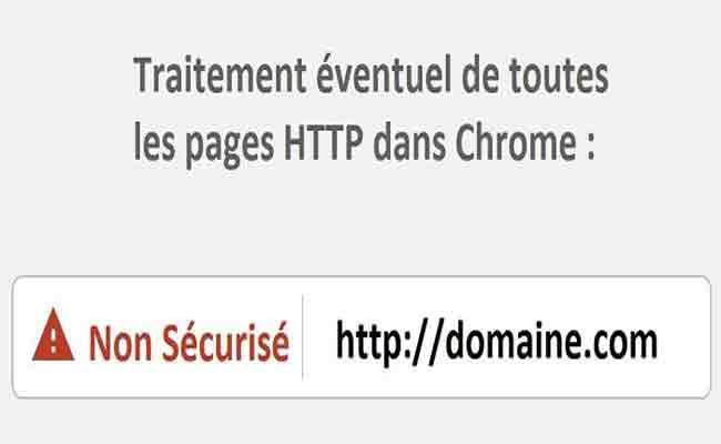 جوجل كروم أصبح يشير إلى المواقع HTTP على أنها غير آمنة