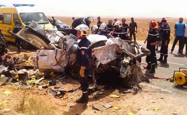 مقتل امرأتان و طفلان في حادث مرور بالبيض