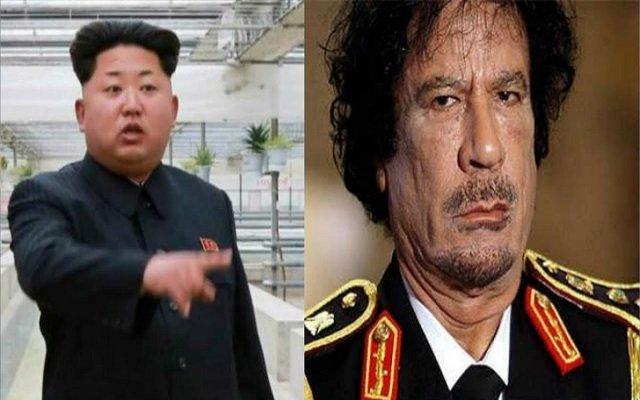 هل تكون نهاية رئيس كوريا الشمالية مأساوية مثل القدافي!!!