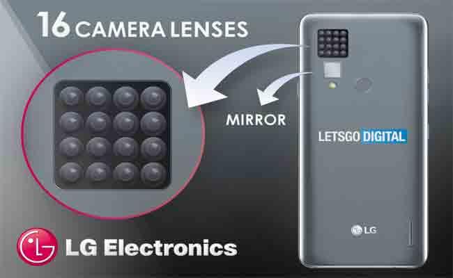 براءة اختراع من LG لهاتف ذكي مع 16 كاميرا