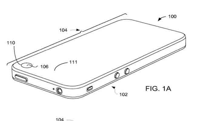 براءة اختراع من أبل لهاتف ذكي مع ثقب أعلى الشاشة بدلا من الشق المستطيل