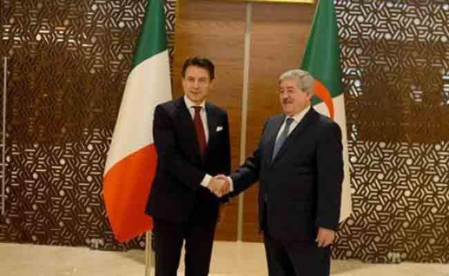 أويحيى يجري مباحثات مع رئيس مجلس الوزراء الايطالي