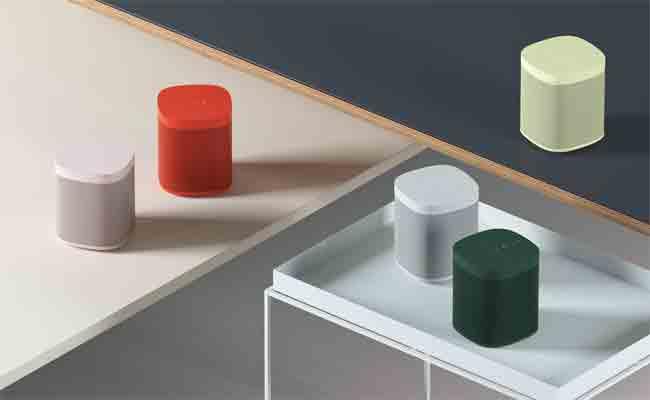 المكبرات الصوتية الذكية Sonos one متوفرة في خمسة ألوان جديدة