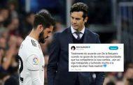 إيسكو ينتقد  مدرب ريال مدريد