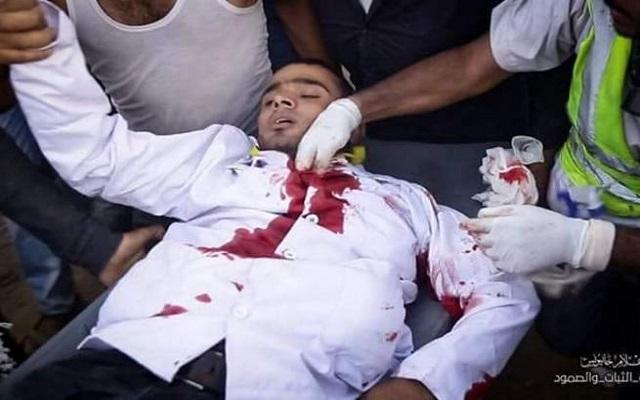 في غزة شهيد وعشرات الجرحى برصاص الصهاينة