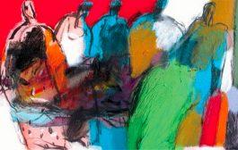 الفنان مصطفى بوسنة يضيء الملتقى العربي للفن التشكيلي بألوانه في الدوحة