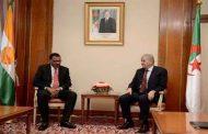 الوزير الأول عبد المالك سلال يستقبل وزير الداخلية النيجري محمد بازوم
