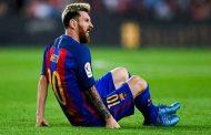 الاصابة تبعد ميسي عن مباريات برشلونة المقبلة