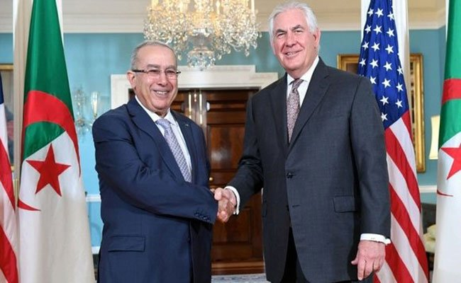 محادثات بين لعمامرة و كاتب الدولة الأمريكي بواشنطن