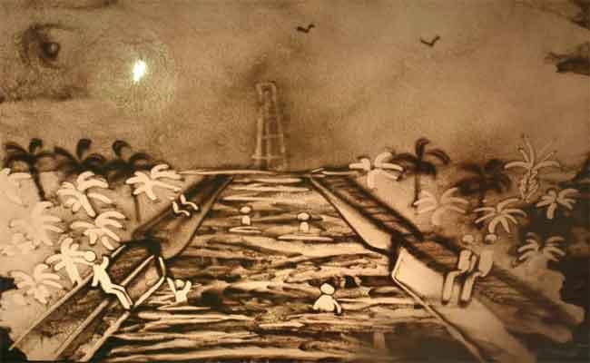 معرض للفن الغرافي بالرمال الطبيعية يخطف أنظار الزوار بالشلف