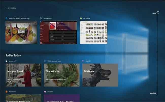 مايكروسوفت قدمت عرض لميزتها الجديدة Timeline