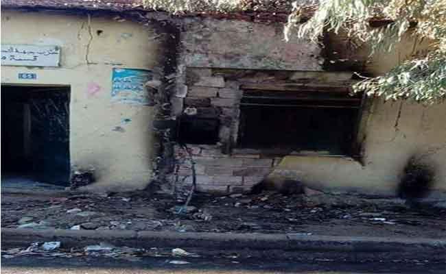 النيران تلتهم  مقر حزب جبهة التحرير الوطني ببلدية مغيلة بتيارات