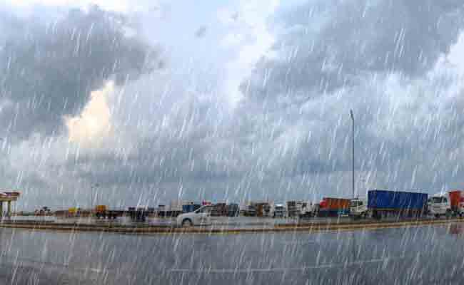 تساقط أمطار رعدية بولايات شرق ووسط البلاد ابتداء من اليوم الخميس
