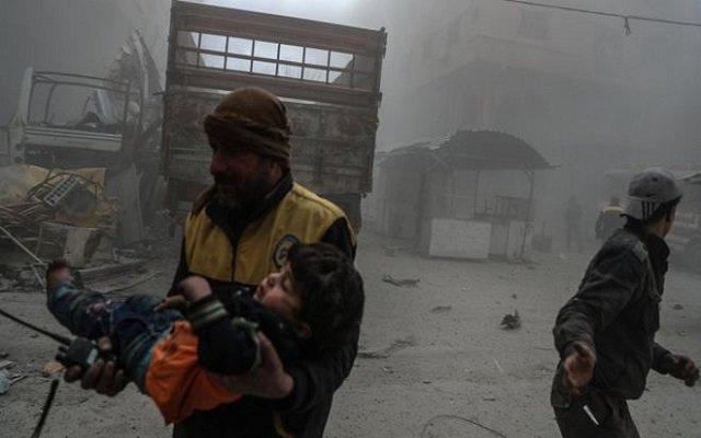 الغوطة الشرقية أوقفوا القصف لكي نحصي الجثث