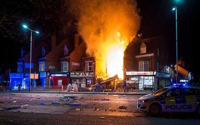 إنفجار ضخم بمدينة ليستر