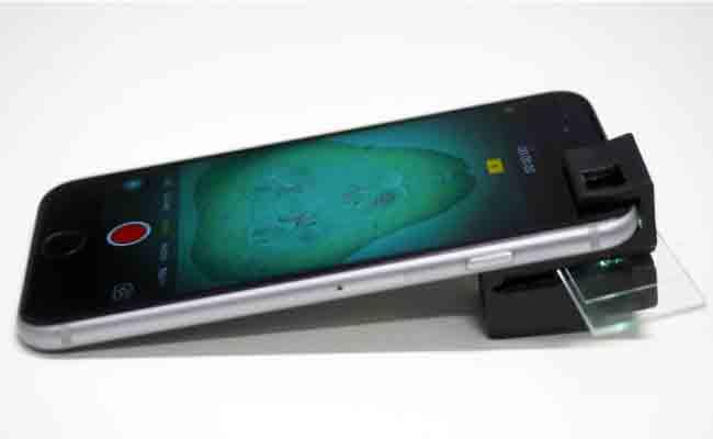 هذا الملحق المطبوع بتقنية 3D يحول كاميرا الهاتف إلى مايكروسكوب