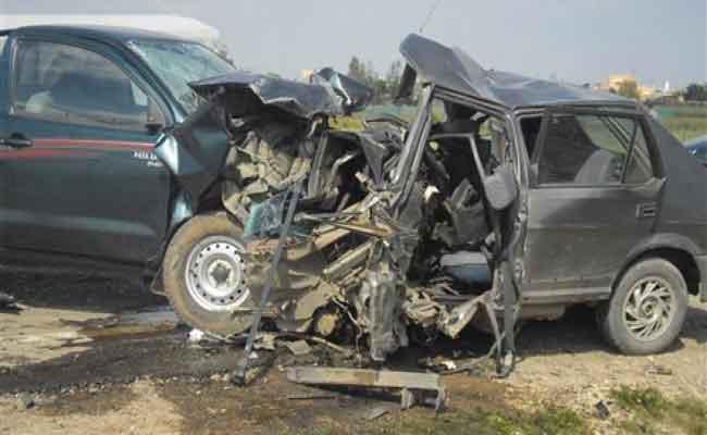 مقتل شخصين في حادث اصطدام تسلسلي بين 4 مركبات بولاية بسكرة