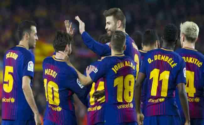 برشلونة يسحق خيرونا بسدادسية قوية
