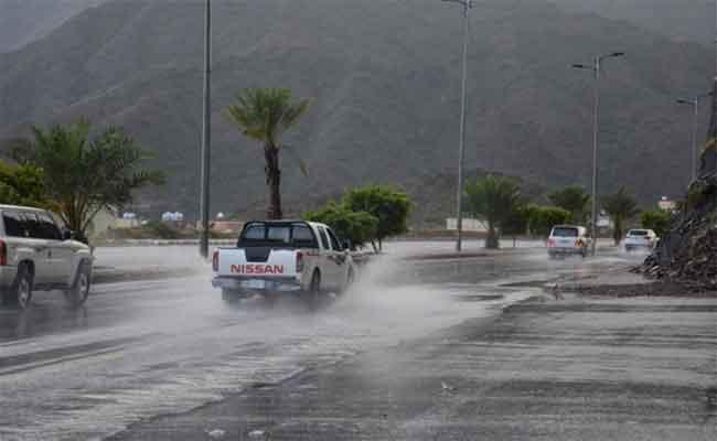 توقع أمطار رعدية ستمس 7 ولايات بوسط و شرق البلاد