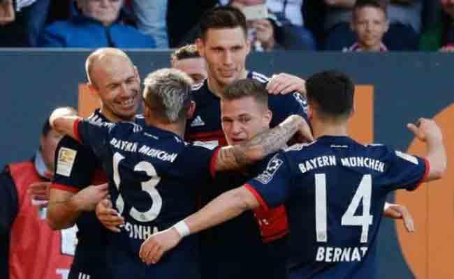 البايرن يتوج بلقب الدوري الألماني