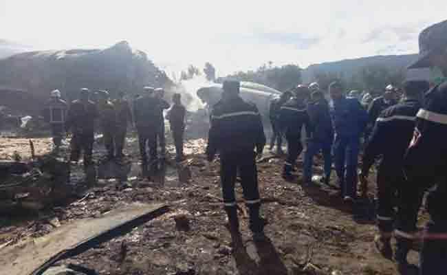 عدد ضحايا فاجعة تحطم الطائرة العسكرية ببوفاريك يبلغ 257 راكبا ضمنهم 10 من طاقم الطائرة