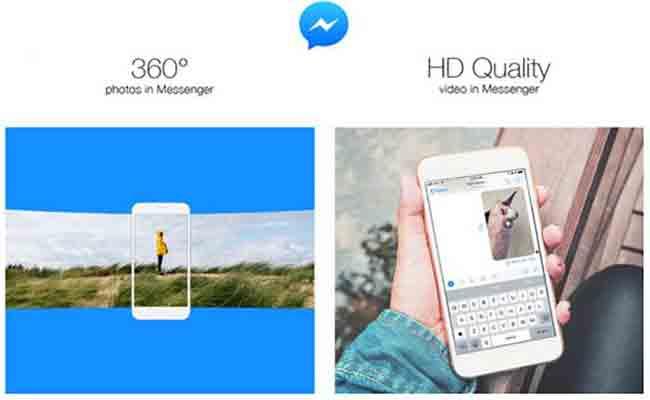 الفيسبوك ماسنجر أصبح يدعم أخيرا الفيديوهات 360 درجة وHD