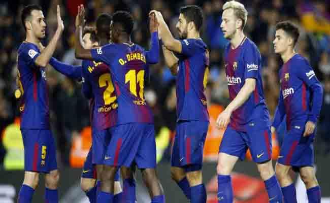 برشلونة يقترب من انجاز تاريخي