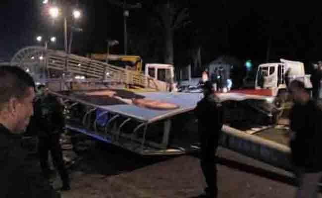 مقتل شخص في حادث سقوط لوحة إشهارية على مستوى طريق بن عكنون