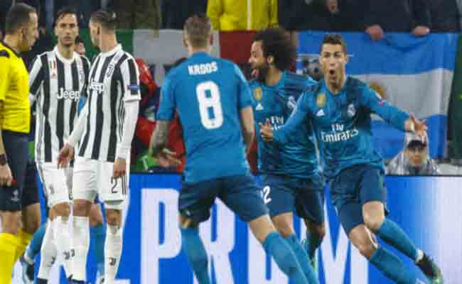رونالدو يقود الريال للفوز على اليوفي