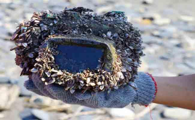 وجدت كاميراتها بعد سنين من فقدانها بالبحر
