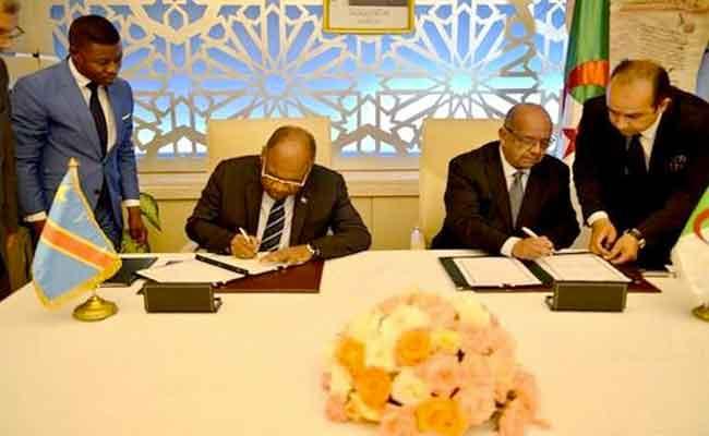 توقيع اتفاق إنشاء لجنة تعاون مختلطة و مذكرة تفاهم بين الجزائر و كونغو الديمقراطية