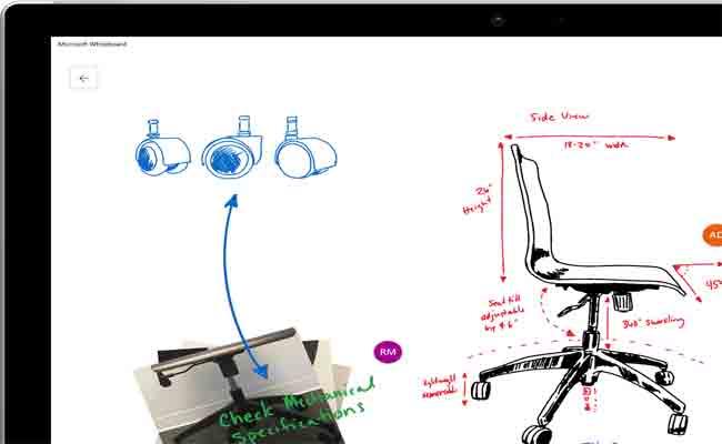 مايكروسوفت تطلق وايت بورد، تطبيق تعاوني