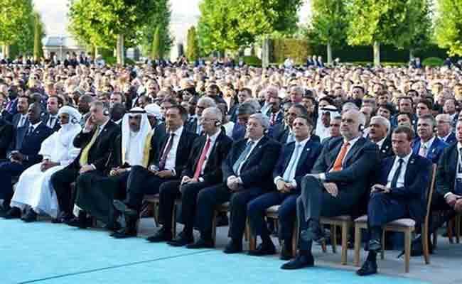 مشاركة أويحيى في مراسم أداء اليمين الدستورية للرئيس التركي