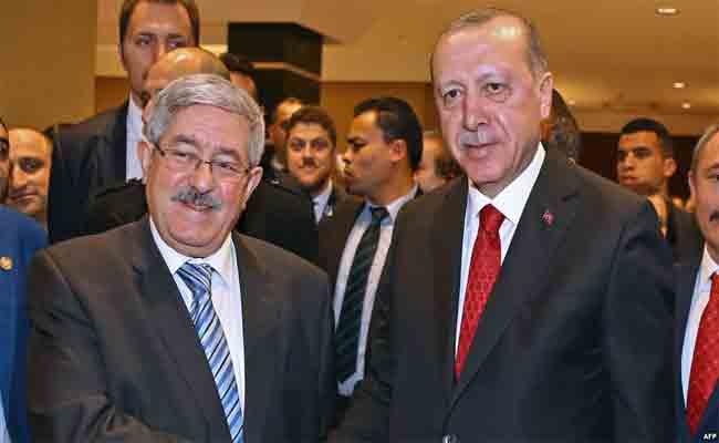الوزير الأول أويحيى يمثل رئيس الجمهورية في حفل تنصيب الرئيس التركي