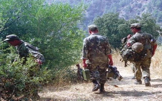كشف مخبأ أسلحة حربية وإرهابيين يسلمان نفسيهما