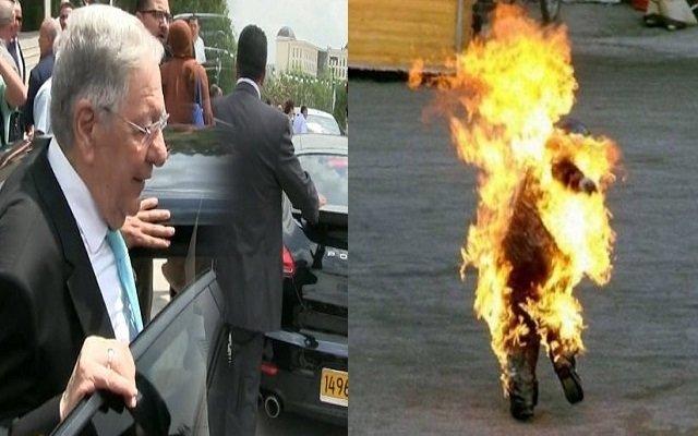 بين سيارة بورش لولد عباس والشاب الذي أحرق نفسه