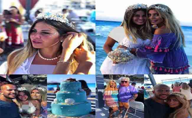 منة حسين فهمي تحتفل بزفافها بطريقة مميزة على الشاطئ