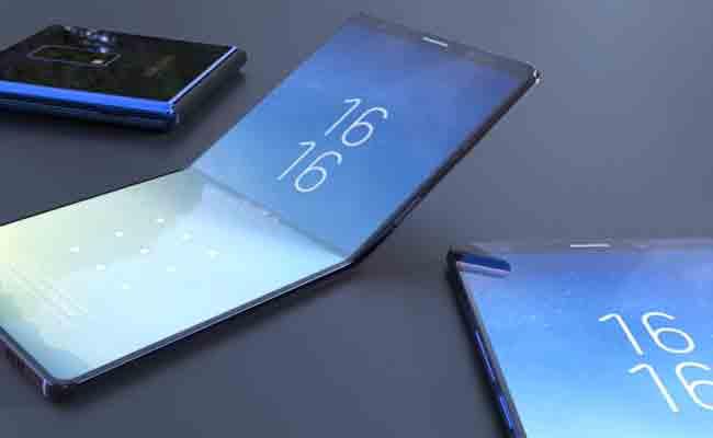 سامسونج تريد أن تكون أول شركة تطلق هاتف ذكي قابل للطي
