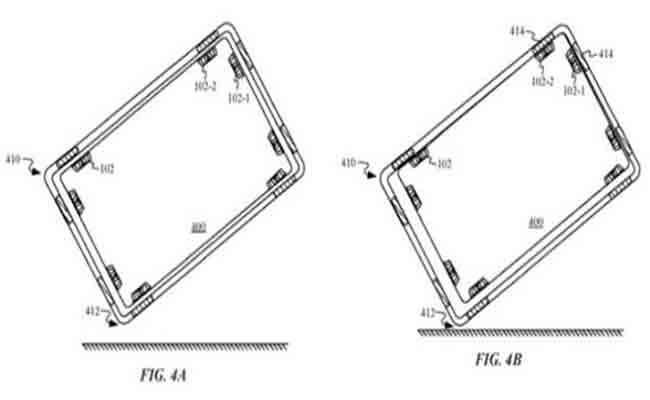 براءة اختراع من أبل لحماية أجهزتها من السقطات المميتة